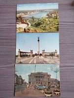 3db Budapest képeslap az 1960-as évekből