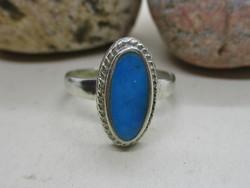 Gyönyörű régi kék  köves ezüstgyűrű