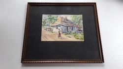 Ujházy Sándor akvarell 1929