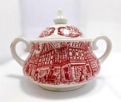 Angol porcelán cukortartó (ZAL-BI40415)