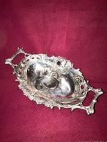 Antik (1800-as évek ( Nemesi!Ezüst Kínáló !! 324 gram súlyú! csoda szép ötvösmunka!