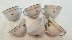 Régi Zsolnay porcelán csésze kávés csésze 6 db