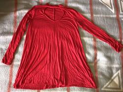 Bershka piros hosszú ujjú felső póló