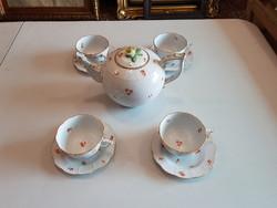 Herendi 4 személyes teás készlet kiöntővel.