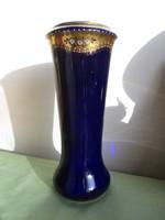 Nagyon régi/ 100 év/porcelán váza aranyfestéssel és ráégetett porcelán díszítéssel .28  cm magas