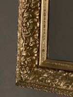 Antik aranyozott masszív fakeretes tükőr