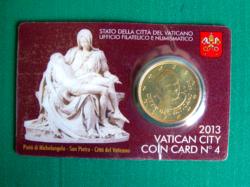 50 cent Vatikán 2013 - hivatalos érmekártya No. 4 (BU)