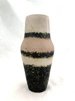 Bod Éva rózsaszín sávos váza 1970