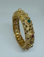 Antik 23 kr. Arany karperec natúr gyémánt, rubin,smaragd drágakövek kel