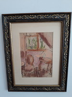 SCHÖNBERGER ARMAND: eredeti festménye