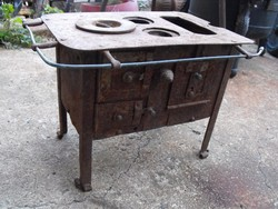 Ritka Antik Népi 100 éves  Sparhelt  makett gyerek kályha  főző masina tűzhely