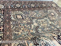 Kasmiri 100% selyem türkíz szőnyeg