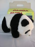 Retró elemes játék plüss panda mackó dobozában