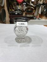Ezüst peremes kristály váza