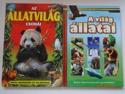 Az állatvilág csodái - A világ állatai - 2 db újszerű ismerettererjesztő gyermekkönyv állatokról
