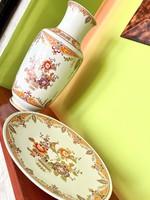 Régi Német nagy porcelán váza és kínáló