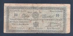 10 Krajcár ( Krajczár, Kreuzer ) 1849 Almássy  Ritka!