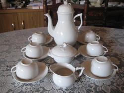 Herendi teás készlet , manófüles ,   fehérben