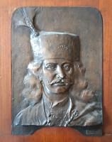 Lányi Dezső: II. Rákóczi Ferenc dombormű, relief