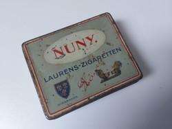 Ritka Ed Laurens cigarettás fém doboz - antik
