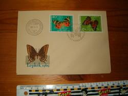 FDC 1964 lepkék . bélyegnap első napi boriték levél KIÁRUSÍTÁS
