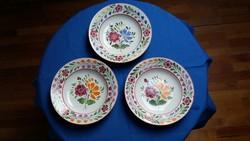 Három virágos Gránit kerámia fali tányér