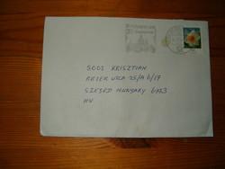 Német bélyeg levél  Magyarországra Szegedre  KIÁRUSÍTÁS 1 forintról