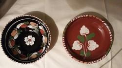 Két kicsi sárospataki népi fali tányér