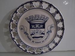 Kerámia - JELZETT - DEDIKÁLT - Olasz - falitányér - 19,5 cm - hibátlan