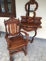 Fésülködő asztal + tükör +szék