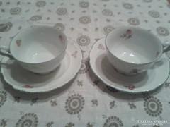 Régi Berauther teás csésze és alj, 2db