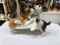 Régi ENSZ porcelán kutya
