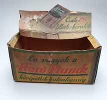 Régi Franck Henrik Fiai R.T. kávés doboz csomagolás