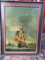 Fali kép, olajnyomat 62x83 cm