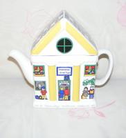 Angol porcelán ház alakú kiöntő