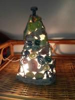 Kerámia karácsonyfa  lámpa...30x18cm.