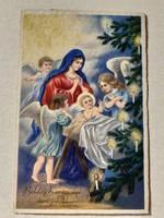 Régi karácsonyi képeslap 1936 angyalos levelezőlap