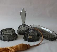 Karel Palda kristály pipere készlet