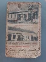 Régi képeslap 1904 Törökszentmiklós Piac tér Könyvnyomda