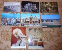 8 olasz képeslap képes levelezőlap futott