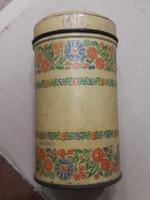 Régi cukortartó fémdobozok, 2 db, 11 cm magasak, gyűjtőknek.