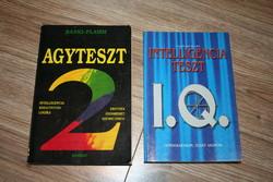 KÖNYV 2 db IQ könyv egyben Intelligencia teszt, agyteszt