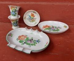 Gyönyörű 5 db-os  Herendi csomag, hamutartók, gyűrűtartók,vázák,nosztalgia