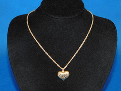 Arany  női 14k  nyaklánc szív medállal  5.3 gr