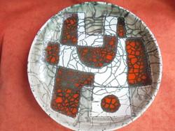 Pál Ferenc stílusú kerámia fali tányér