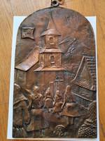 """Bronz falikép """"Hollókő"""""""