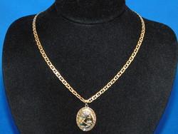 Arany 14k nöi  nyaklánc  medállal   7.4 gr