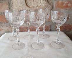 Kristály boros pohár készlet