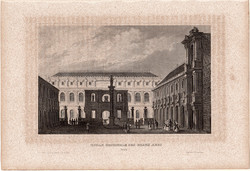 Országos Képzőművészeti Iskola (2), acélmetszet 1850, eredeti, 10 x 15, metszet, Párizs, beaux arts