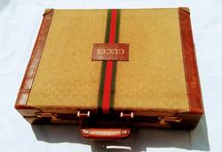 Original vintage gucci suitcase with unique jewelry holder